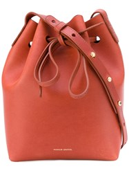 Mansur Gavriel 'Bucket' Bag Women Leather One Size Brown