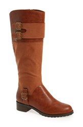 Bella Vita Women's 'Adriann Ii' Riding Boot Camel Faux Leather