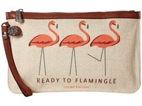 Tommy Bahama Boca Chica Beach Wristlet Ready To Flamingle Wristlet Handbags Khaki