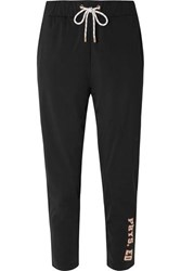 P.E Nation Phys Ed Printed Stretch Jersey Track Pants Black