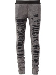 Faith Connexion Distressed Skinny Trousers Black