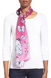 Women's Echo 'Snow Butterflies' Silk Oblong Scarf Purple Winter Lilac