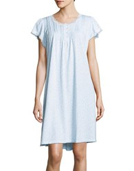 Miss Elaine Floral Print Sleep Dress Blue