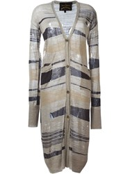 Vivienne Westwood Anglomania Long Cardigan Nude And Neutrals