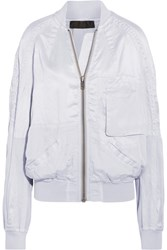 Haider Ackermann Satin Bomber Jacket Light Gray