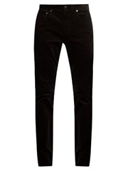 Vince 718 Slim Leg Cotton Corduroy Trousers Black