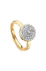 Monica Vinader 'S Fiji Large Diamond Button Stack Ring