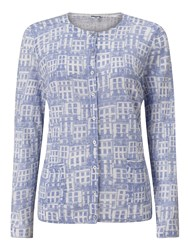 Dash House Print Cardigan Blue