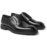 Brunello Cucinelli Polished Leather Derby Shoes Black