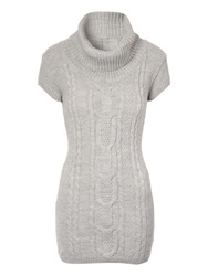 Jane Norman Cable Knit Tunic Grey