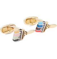 Paul Smith Enamel Gold And Silver Tone Cufflinks Gold