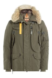 Parajumpers Right Hand Down Jacket With Fur Trimmed Hood Gr. S