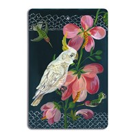 Avenida Home Nathalie Lete Antique Cutting Board White Parrot