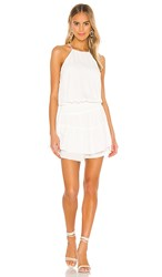 Krisa Smocked Halter Dress In White.
