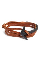Miansai Men's Half Cuff Anchor Leather Wrap Bracelet
