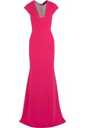 Roland Mouret Ives Cutout Stretch Crepe Gown Fuchsia