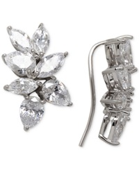 Arabella Swarovski Zirconia Crawler Climber Earrings In Sterling Silver
