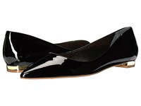 Massimo Matteo Pointy Toe Flat 17 Black Patent Women's Flat Shoes