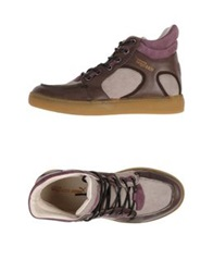 Alexander Mcqueen Puma High Tops And Trainers Mauve