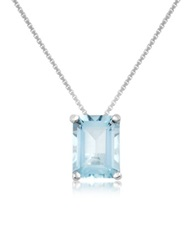 Incanto Royale Aquamarine 18K Gold Pendant Necklace