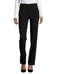 T Tahari Rae Embellished Straight Leg Pants Black
