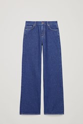 Cos 32 Inch Wide Leg Jeans Blue