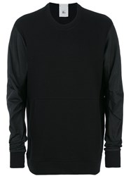 Lost And Found Rooms Technical Sleeve Sweatshirt Men Cotton Polyester L Black
