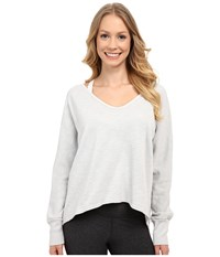 Hard Tail Dolman Sleeve Pullover Dove Women's Long Sleeve Button Up Beige