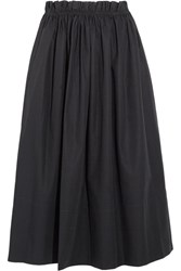 Chloe Cotton Poplin Midi Skirt Navy