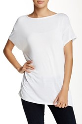 Michael Stars Boatneck Blouse White