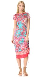 Fuzzi Short Sleeve Dress Fuxia