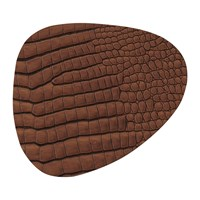 Lind Dna Croco Curve Table Mat Cognac Brown