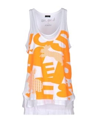 Joseph Sleeveless T Shirts White