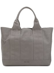 Tomas Maier Palms Patches Shopping Bag Women Cotton One Size Nude Neutrals