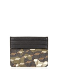 Pierre Hardy Cube And Camouflage Print Cardholder Khaki