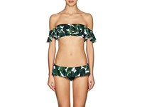 Milly Sirolo Bandeau Bikini Top Emerald Multi