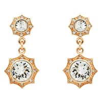 Cachet Becka Swarovski Crystal Drop Earrings Rose Gold