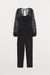 Handm H M Fitted Jumpsuit Black