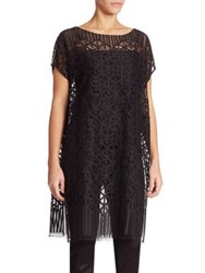 Akris Architectural Lace Tunic Black