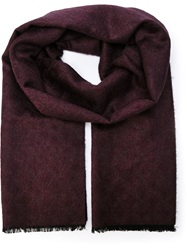 Brioni Fringed Jacquard Scarf Pink And Purple