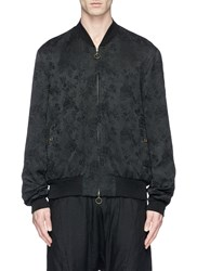 Song For The Mute Floral Jacquard Bomber Jacket Black