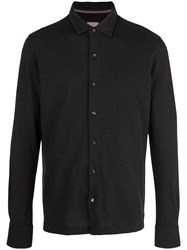 Isaia Classic Jersey Shirt Black