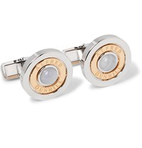 Dunhill Gold Plated Sterling Silver And Chalcedony Radial Cufflinks Silver