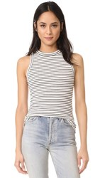 Getting Back To Square One The Rib Muscle Tee Black Vanilla Ice Stripe