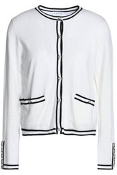 Claudie Pierlot Stretch Knit Cardigan Ecru