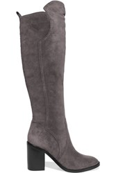 Sigerson Morrison Bambina Suede Knee Boots Gray