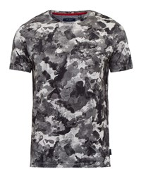 Ted Baker Men's Ruben Camouflage Cotton T Shirt Charcoal