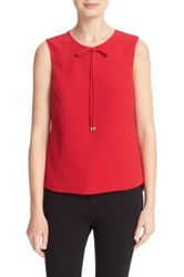 Ted Baker Natalle Bow Detail Crepe Top Red
