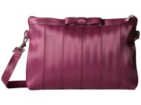 Harveys Seatbelt Bag Bow Clutch Plum Clutch Handbags Purple