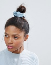 Monki Denim Wash Scrunchie Blue